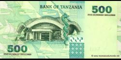 Tanzanie - p35 - 500 Shilingi - ND (2003) - Benki Kuu ya Tanzania / Bank of Tanzania
