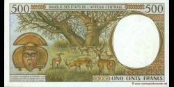 Tchad - p601Pg - 500 Francs - 2000 - Banque des États de l'Afrique Centrale
