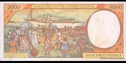 Tchad - p603Pc - 2.000 Francs - 1995 - Banque des États de l'Afrique Centrale