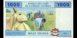 Tchad - p607C - 1.000 Francs - 2002 - Banque des États de l'Afrique Centrale