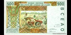 Togo - p810Th - 500 Francs - 1997 - Banque Centrale des États de l'Afrique de l'Ouest