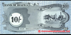 Biafra - p04 - 10 Shillings - ND (1969) - Bank of Biafra