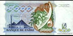 Zaire - p37b - 5.000 Zaïres - 20.05.1988 - Banque du Zaïre