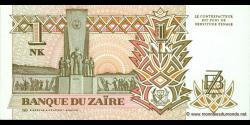 Zaire - p47 - 1 Nouveau Zaïre - 24.06.1993 - Banque du Zaïre