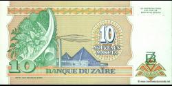 Zaire - p49 - 10 Nouveaux Zaïres - 24.06.1993 - Banque du Zaïre