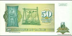 Zaire - p51 - 50 Nouveaux Zaïres - 24.06.1993 - Banque du Zaïre