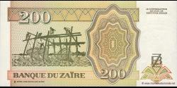Zaire - p61 - 200 Nouveaux Zaïres - 15.02.1994 - Banque du Zaïre
