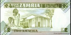 Zambie - p24c - 2 Kwacha - ND (1980 - 1988) - Bank of Zambia