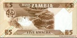 Zambie - p25d - 5 Kwacha - ND (1980 - 1988) - Bank of Zambia