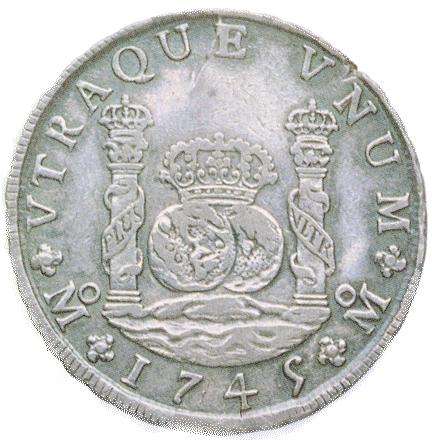 pièce de 1 dollar, 1745