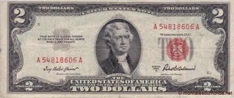 Etats-Unis, 2 dollars, 1953, P-380a